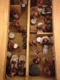 式样面包店和啤酒厂从Meketre坟茔在大都会艺术博物馆 免版税库存照片