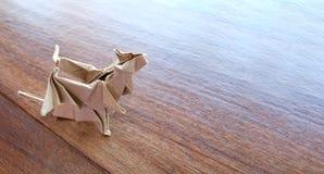 式样origami龙 免版税库存照片