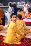 仪式的修士在瑞诗凯诗 免版税图库摄影