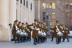 仪式更改的卫兵 免版税库存图片
