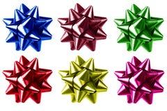 弓五颜六色的礼品 免版税库存图片