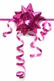 弓全息照相的淡紫色丝带 库存图片