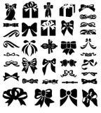 弓图标集 免版税图库摄影