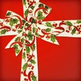 弓圣诞节丝带 免版税图库摄影