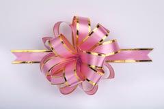 弓圣诞节粉红色 库存照片
