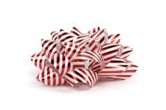 弓圣诞节红色白色 免版税库存图片