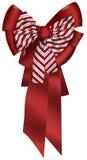 弓圣诞节红色 免版税图库摄影