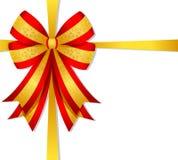 弓圣诞节红色 免版税库存照片