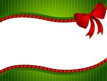 弓圣诞节绿色红色 库存图片