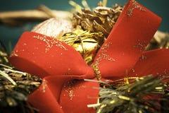 弓圣诞节装饰红色 库存图片