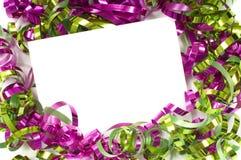 弓圣诞节notecard 免版税库存图片