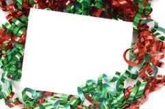 弓圣诞节notecard 库存图片