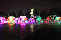 弓小山胜利公园莫斯科在夜之前 库存照片
