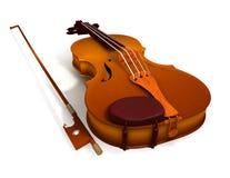 弓小提琴 皇族释放例证