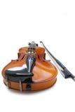 弓小提琴 免版税图库摄影