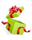 弓开放配件箱的礼品 皇族释放例证