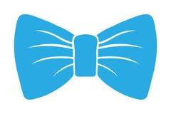 弓明亮的蓝色传染媒介剪影 象和装饰 背景查出的白色 例证 服装蝴蝶 向量例证
