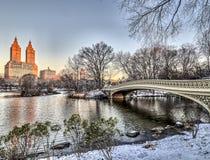 弓桥梁中央公园 库存照片