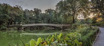 弓桥梁在夏天 免版税库存图片