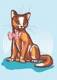 弓猫设计梯度例证没有 库存照片