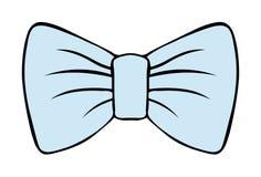 弓的儿童的例证 与等高的服装蝴蝶淡色蓝色传染媒介图画 柔和的装饰 隔绝在白色backgr 皇族释放例证