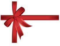 弓礼品红色丝带向量 库存图片