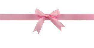 弓粉红色 免版税库存图片