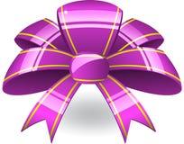 弓紫色丝带 库存照片