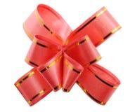 弓红色丝带白色 图库摄影