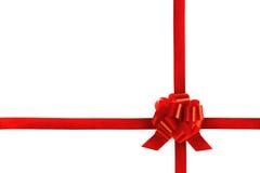 弓红色丝带附加 免版税库存图片