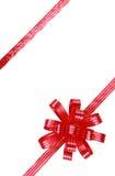 弓红色丝带 免版税图库摄影