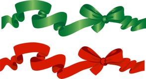 弓绿色红色 免版税库存照片