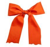 弓节假日粉红色发光丝带的缎 免版税库存图片