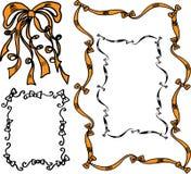 弓被画的现有量丝带 库存图片