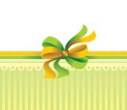 弓设计典雅礼品包装 免版税库存图片