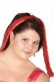 弓逗人喜爱的头发 库存图片