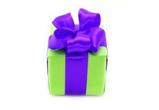弓配件箱存在紫色 图库摄影
