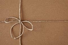 弓配件箱纸盒程序包过帐 免版税库存图片