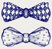 弓领带。乱画样式 库存图片