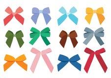 弓颜色的设计和五颜六色多彩多姿的弓 库存例证