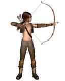 弓elven猎人年轻人 向量例证