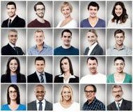 引人注目地微笑的人民的构成 免版税库存图片