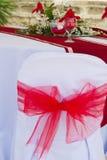 引人注目的中心片断。婚礼桌装饰 免版税库存照片