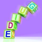 引导字手段忠告指示或指南 向量例证