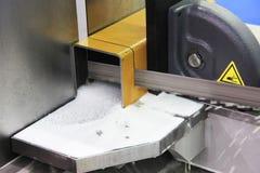引形钢锯机械工具 免版税库存照片