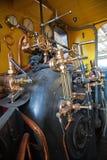 引擎关闭的蒸汽牵引 免版税库存照片