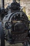 引擎关闭的蒸汽牵引 库存照片