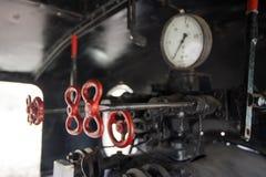 引擎关闭的蒸汽牵引 免版税库存图片