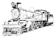 引擎关闭蒸汽培训 免版税库存照片