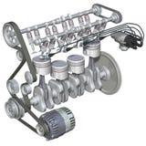 引擎内部汽油 向量例证